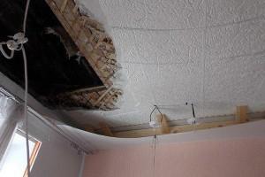 Утверждена смена на ремонт обвалившегося в лицее потолка